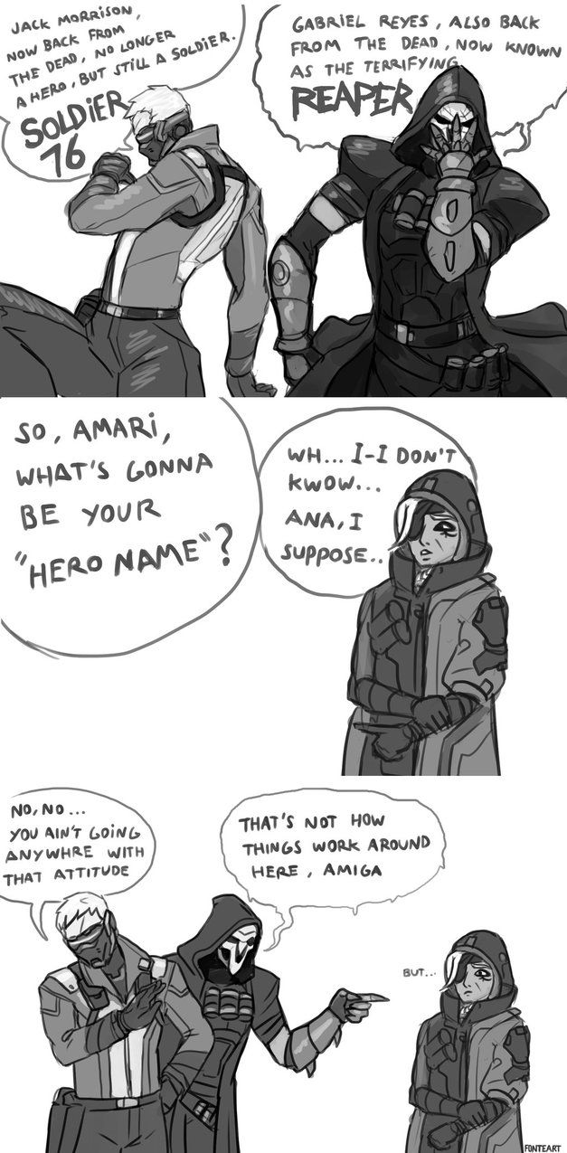 "overwatch-fan-art: "" Overwatch Comic: Ana's hero name by FonteArt """