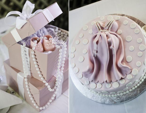 pink princess pearl and lace baby shower. Prettiest pregnant belly cake I've seen. Not creepy like the others