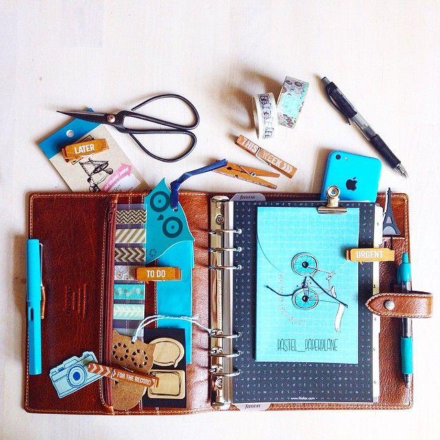Malden Ochre & Teal Set-Up by #pastel_paperplane #filofax #maldenochre…