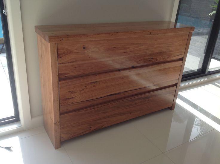 Recycled hardwood drawers