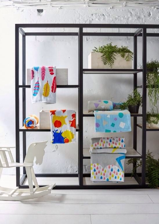The debut Cosi towel range- Artful bath towels for stylish bambini