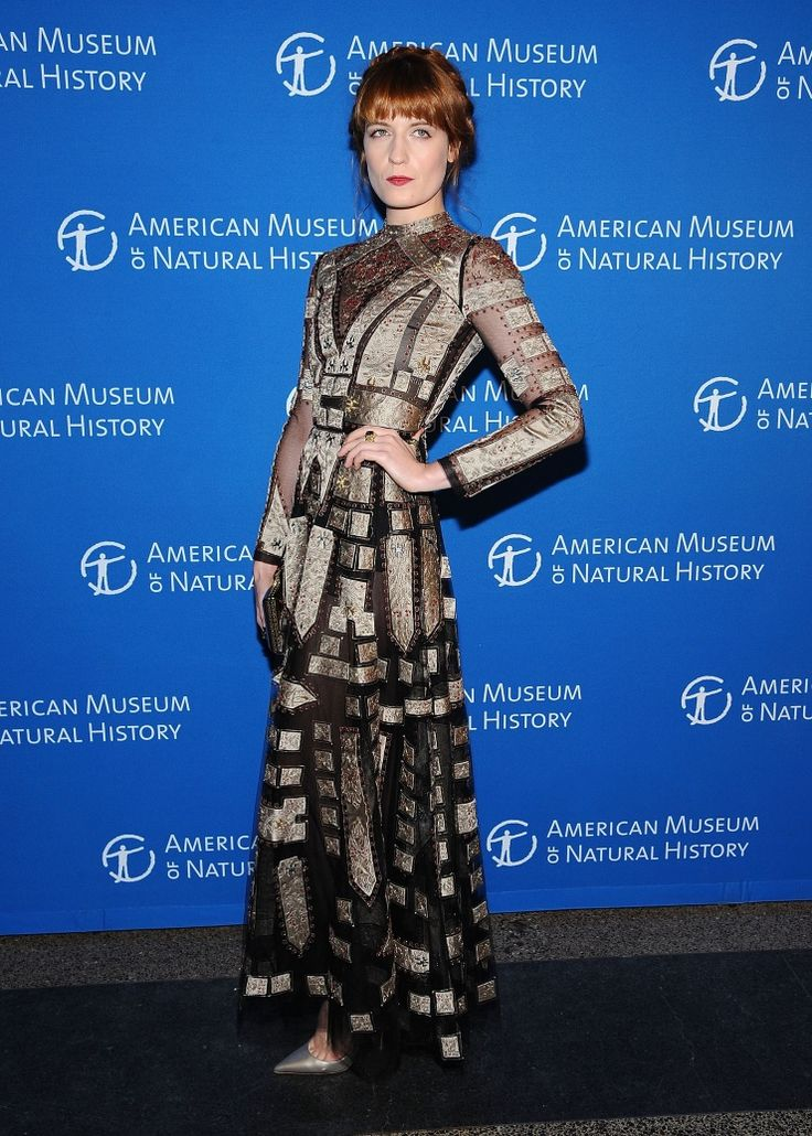 Florence Welch of Florence & The Machine makes her ceremonious appearance at the Museum Gala at the American Museum of Natural History on Nov. 21 in New York: Florencewelch, Photo, Florence The Machines, Museum Gala, Florence Welch