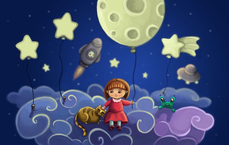 Moon-girl, Marzena Stanislawska on ArtStation at https://www.artstation.com/artwork/XaN6n
