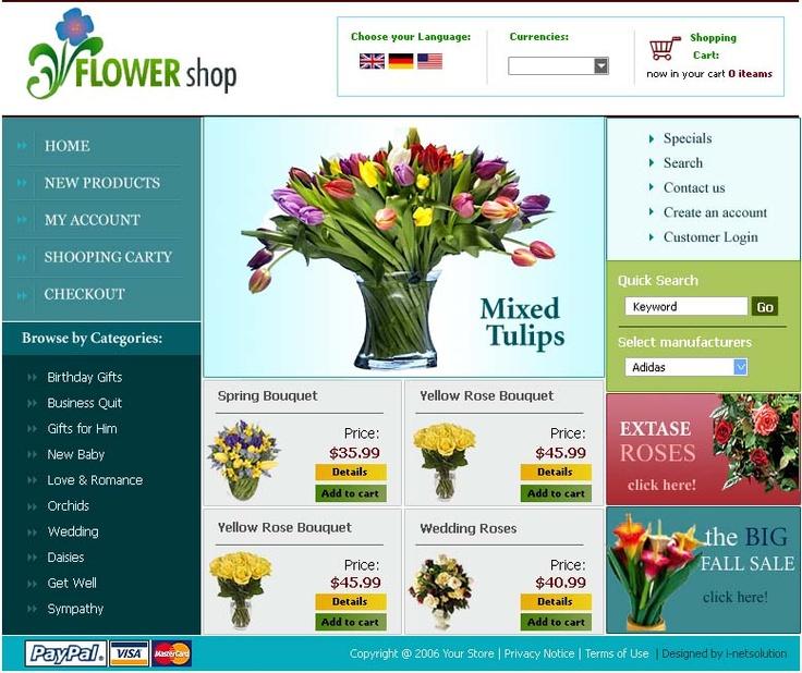 Flower Shop Script