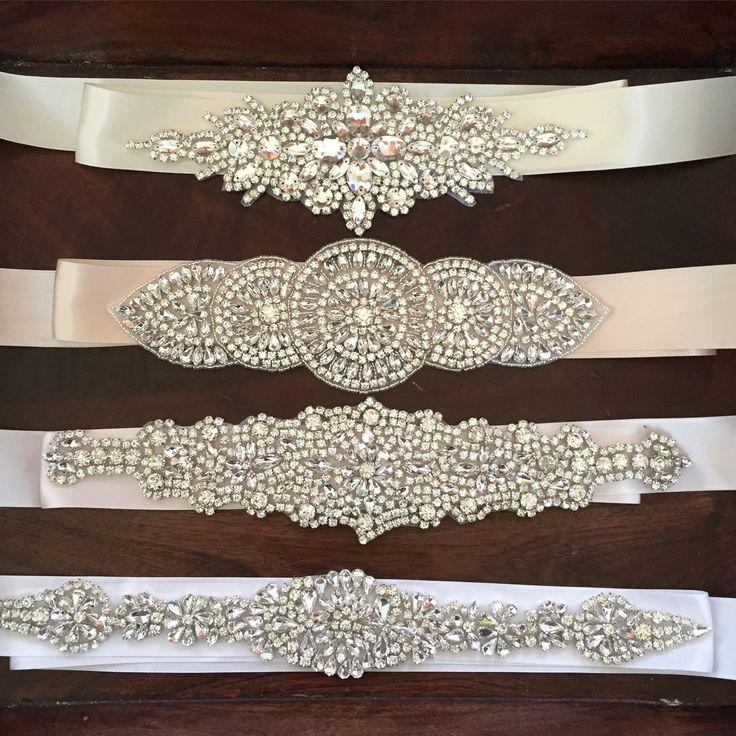 Crystal Rhinestone Bridal Belts