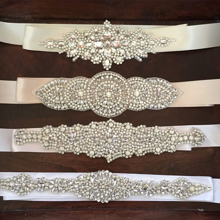 Crystal Rhinestone Bridal Belts