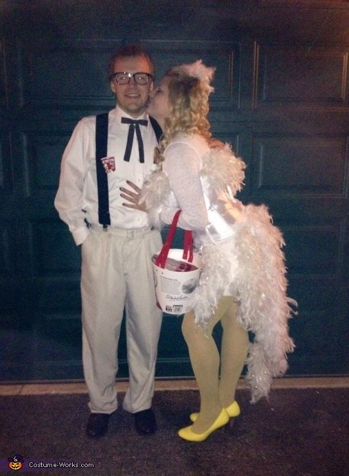 Colonel Sanders and his Chicken - Halloween Costume Contest via @costume_works