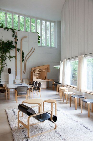 The studio of Finnish architect and designer Alvar Aalto; you can buy his furniture at Utility Design. Shop Artek today:  https://www.utilitydesign.co.uk/brands/artek