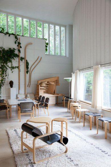 The studio of Finnish architect and designer Alvar Aalto; you can buy his furniture at Artek.