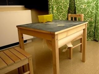 art tables for kids.: Chalkboards Kids Tables, For Kids, Kids Stuff, Kids Activities, Home Art, Art Tables, Tables Ideas, Chalkboards Tops, Kids Rooms