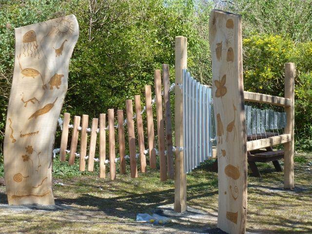 2015-04  Stackpole School , Sculptural Musical Garden by www.artofoak.co.uk