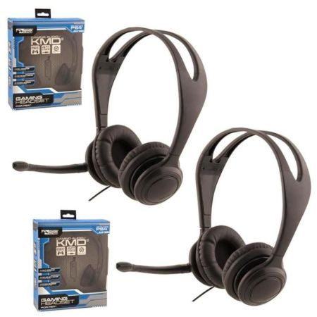 Wal-Mart.com USA LLC -2-Pack Live Chat Headset With microphone For Sony PS4 Black Small
