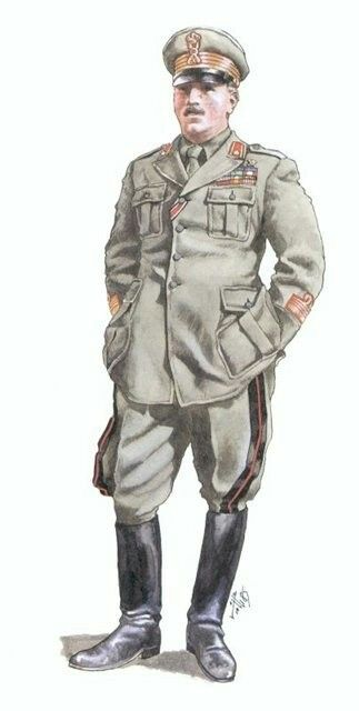 """Regio Esercito Italiano -Colonnello comandante 80th Reggimento Fanteria """"Pasubio"""" 1942"""