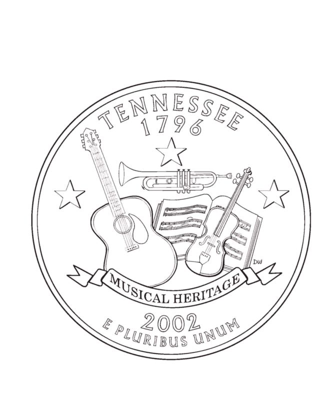 Tennessee State Quarter Coloring