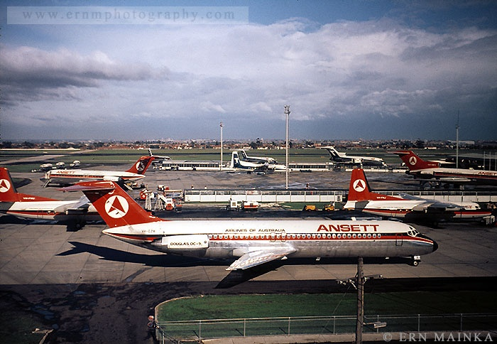 View from control tower at Essendon Airport, 1971