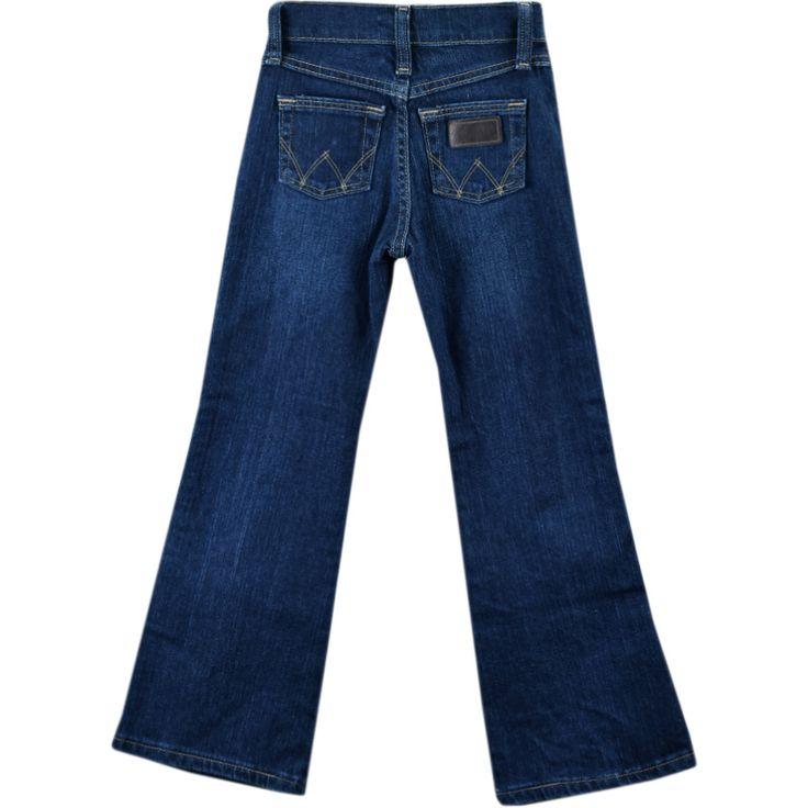 Calça Jeans Infantil Feminina Wrangler    Calça Wrangler feminina infantil jeans feita em 99% de algodão e 1% em spandex. Calça infantil jeans tradicional com ajuste em alástico na cintura. Trás como assinatura a conceituada marca Wrangler.