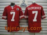 2013 Super Bowl XLVII NEW San Francisco 49ers #7 Colin Kaepernick Red With Hall of Fame 50th Patch(Elite) Price:$23