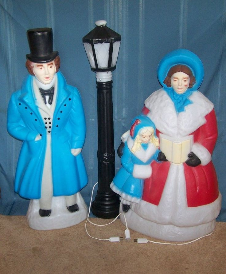 Vintage Blow Mold Christmas Carolers Christmas Lawn Decor: 1103 Best Images About Blow Molds On Pinterest