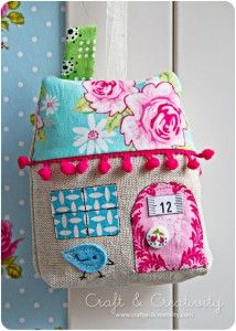 tutorial - fabric house. I want to make a similar one for baby....activity one with zippers, ties, crinkly stuffing.