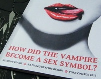 Dissertation: How Did the Vampire Become a Sex Symbol by Donna Hall, via Behance