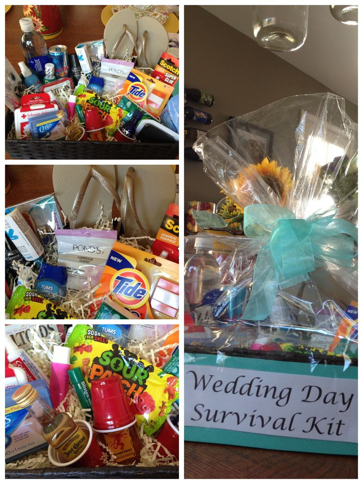 wine wedding shower gift poem%0A Bridal Shower Gift idea  Wedding Day Survival Kit
