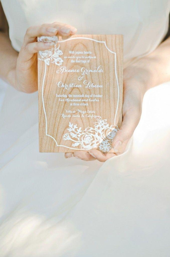 Rustic wedding invitation // photo by http://melissabiador.com
