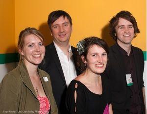 Anna Lewis, Jon Reed, Jon Slack and Emily Benet at the Publishing Talk London Book Fair Tweetup 2010.
