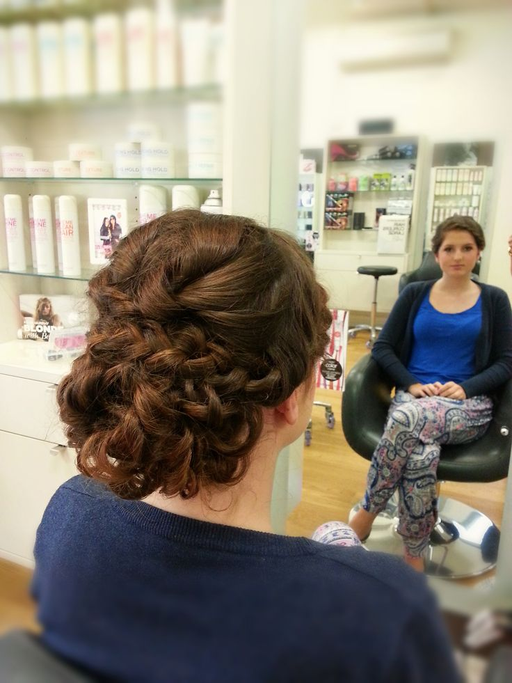 Curly formal hair #formal #upstyle #braids