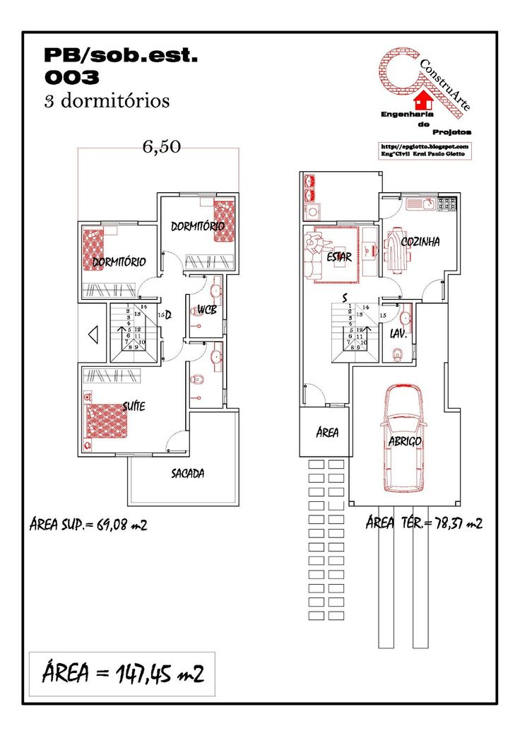 Modelos de planta baixa modelos de sobrados planta de for Plantas de casas tipo 3