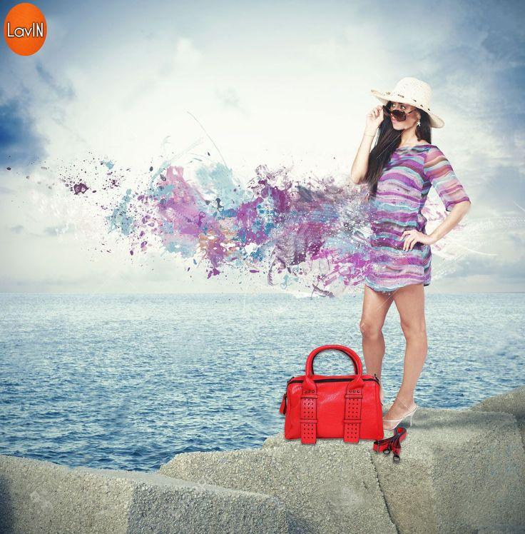 Shop for Beautiful #LavIN #Handbag...  Use promocode WBAG20 to get 20% cashback* on #Paytm