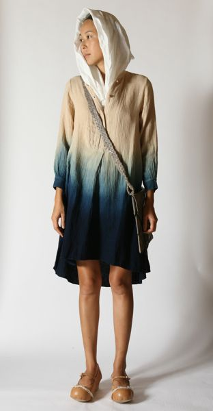 japanese indigo with natural linen from eatable of many orders - pinterest.com/allerius - Women's Fashion