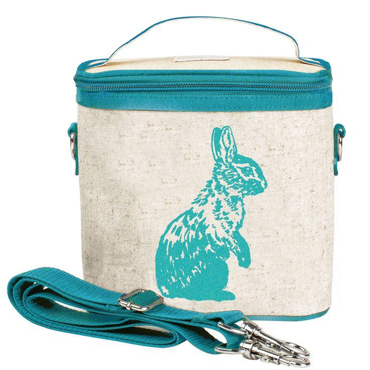 Aqua Bunny Small Cooler Bag - Raw Linen