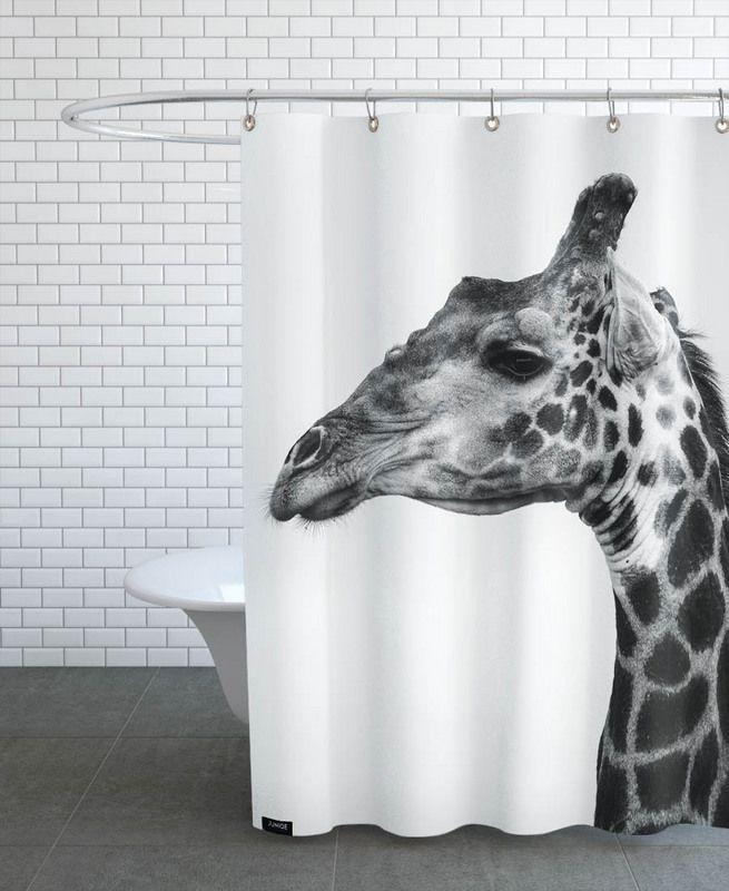Giraph en Rideau de douche par Shot By Clint | JUNIQE