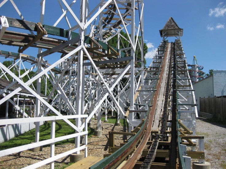 Leap-the-Dips - Lakemont Park, Altoona, Pennsylvania. Built in 1902, this is the oldest roller coaster in the world.