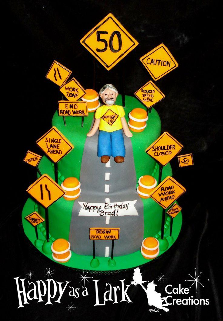 Road Sign Birthday Cake
