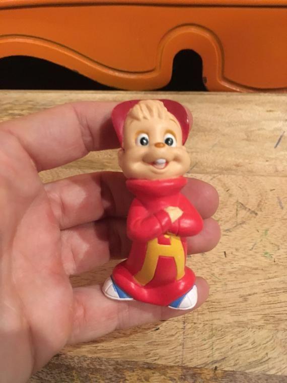 Vintage Alvin and the Chipmunks 1991 Figure ToyCake Topper Alvin the Chipmunk Figure Lot 2