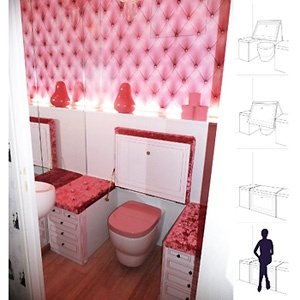 17 best images about toilettes on pinterest coins - Decoration toilettes design ...