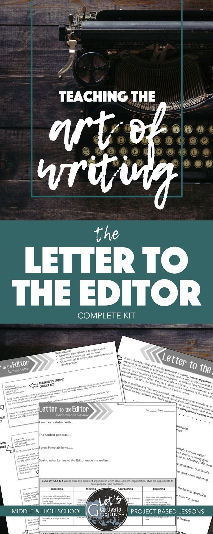 Everything you need to teach writing a