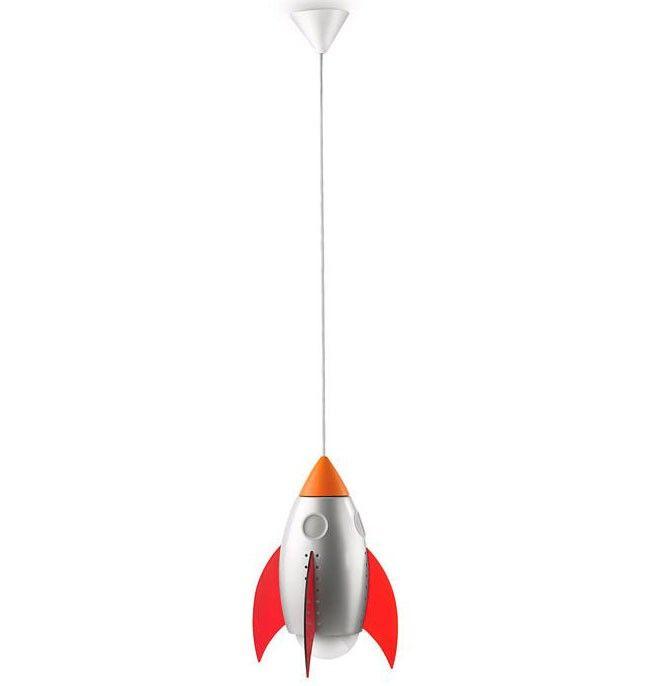 Lampara Colgante de Techo Infantil Cohete Espacial