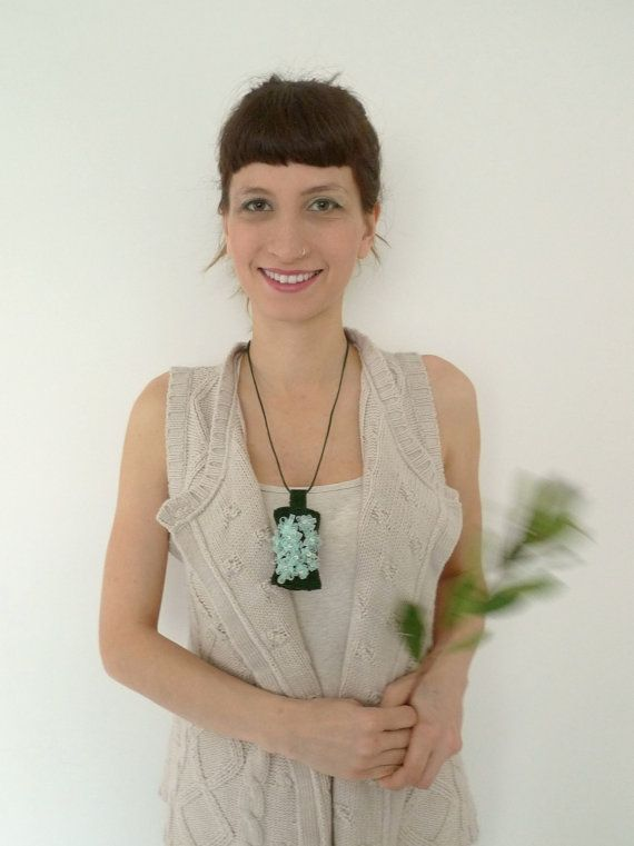Cloud of Blossoms // Upcycled Wearable Art // by Karakoncolos, $20.00