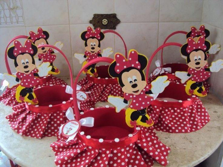 Canasta minnie mouse pi ata pinterest decoracion for Decoracion para pinatas