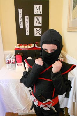 Lots of ideas for a Ninja themed party