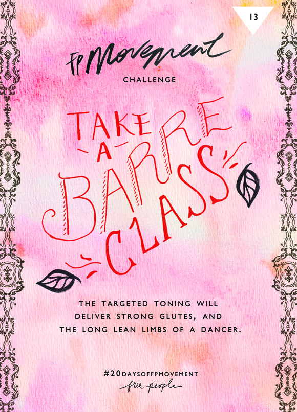 20 Days Of Movement, Day 13: Barre Class | Free People Blog #freepeople