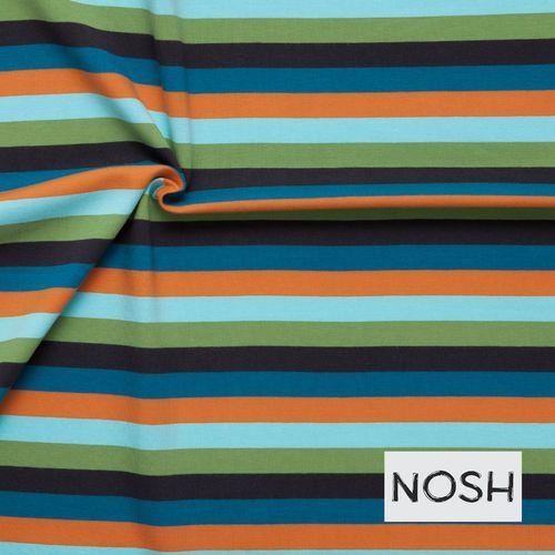 Sporty colourful Multi Stripes, Blue/ Orange