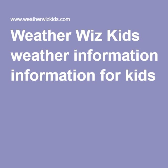 Weather Wiz Kids weather information for kids, CLOUDS. Cycle 1, WK 23