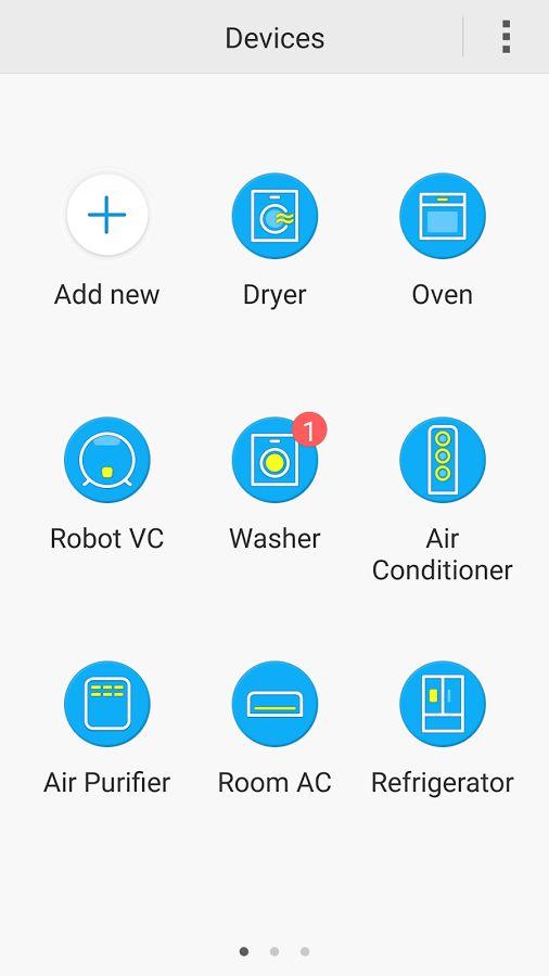 Samsung Smart Home- หน้าจอ