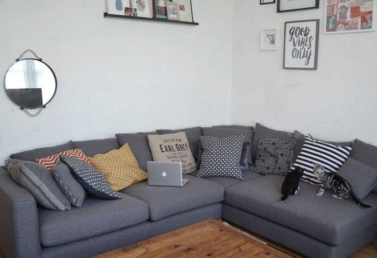 dfs large grey corner sofa  #mydfs #dfssofa