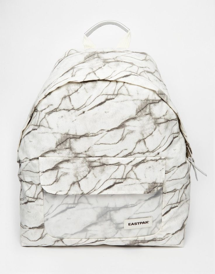 Image 1 of Eastpak Padded Pak'r Backpack in Marble Print with Perspex Pocket