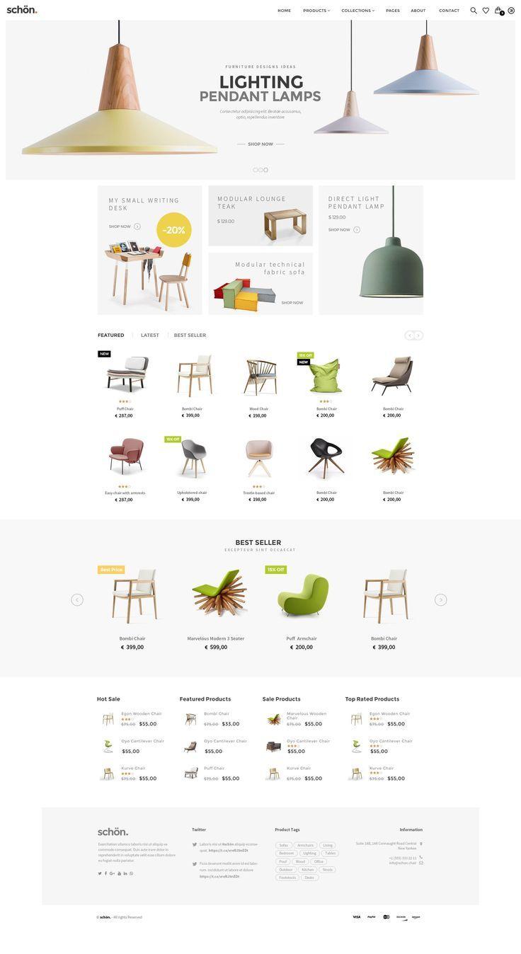 schön is best multipurpose PSD Template for amazing eCommerce Website. #furniture #interior #shop