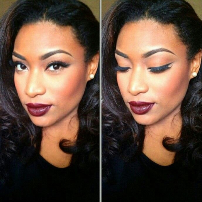 Fall makeup for dark skin tone Love Iris her makeup skills are on point